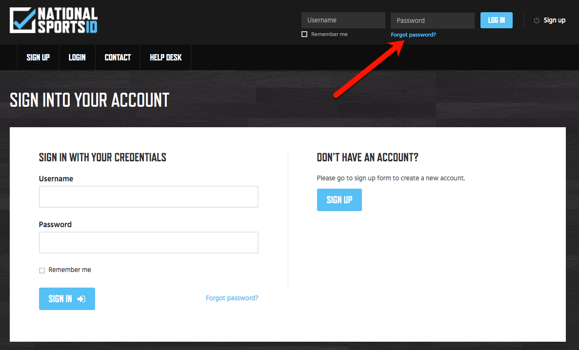 1 - Forget Password Link
