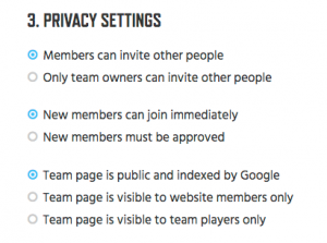 11- Team Privacy Settings