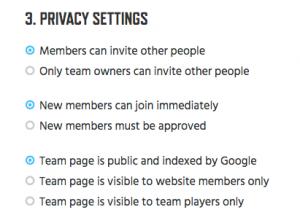 11- Team Privacy Settings