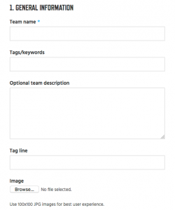 9 - Team General Information