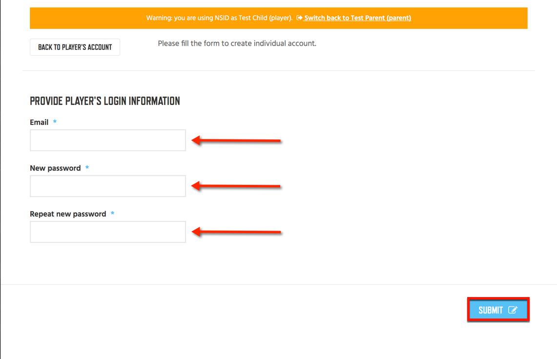 5 - Create Credentials Add Player Login Info
