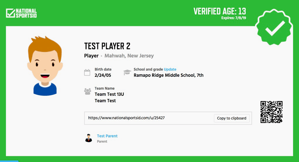 Verified Sports ID