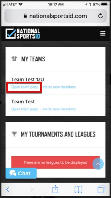 2 - Click Open Team Page Subscribe Calendar