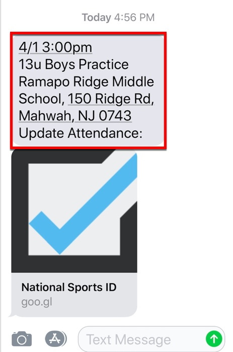 How to Send Instant Team Reminders – National Sports ID